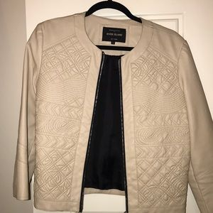 River Island Beige Faux Leather Jacket